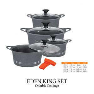 Eden King Set Marble Coated